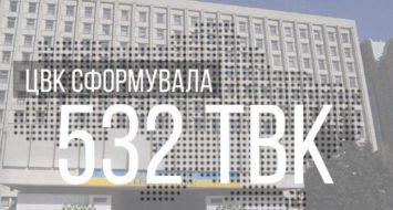 ЦВК сформувала 532 територіальні виборчі комісії👏