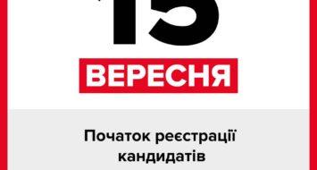 15 вересня – початор реєстрації кандидатів